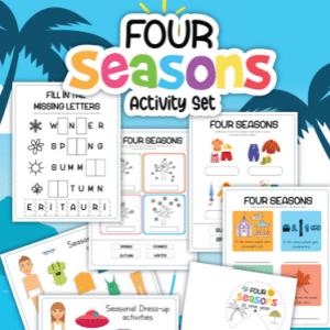 four seasons activities free printables