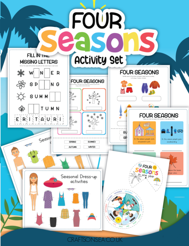 four seasons printables activities for kids