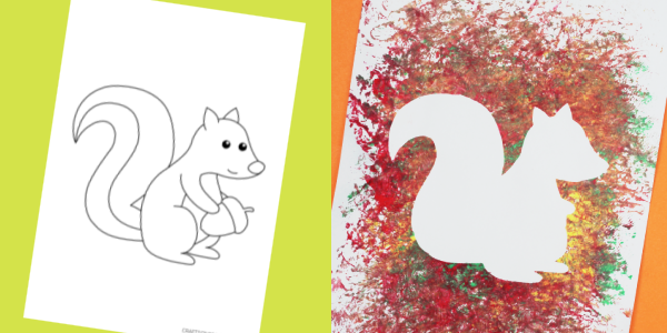 free squirrel template for kids