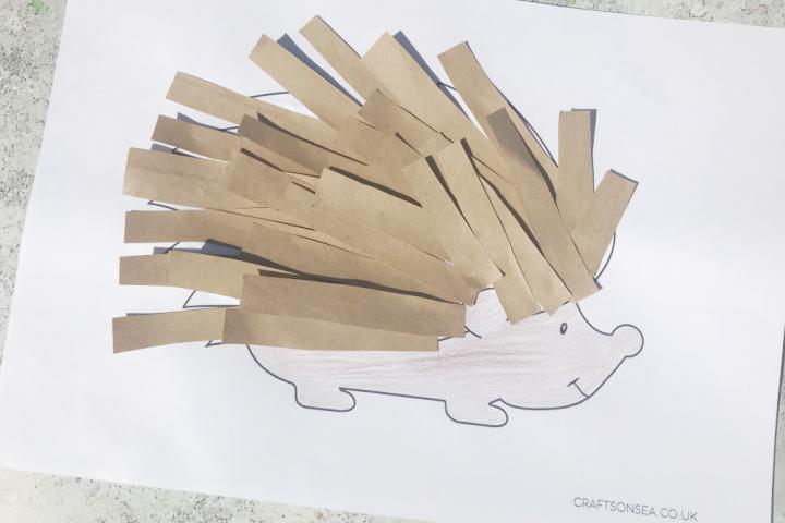 hedgehog craft for kids easy