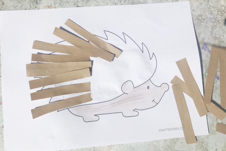 hedgehog craft paper