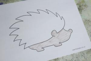 hedgehog craft template