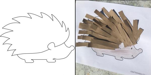 hedgehog template craft