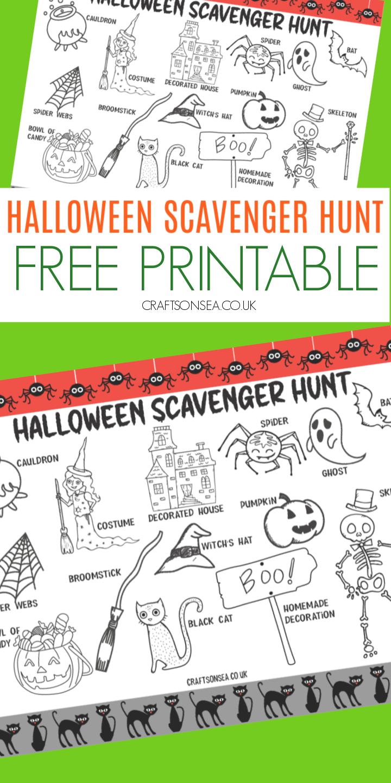 neighbourhood halloween scavenger hunt