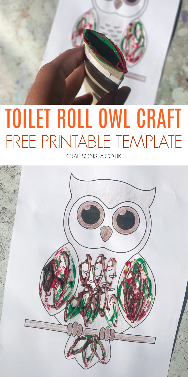 owl craft with a printable for preschool