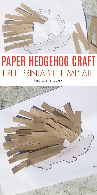 paper hedgehog craft printable