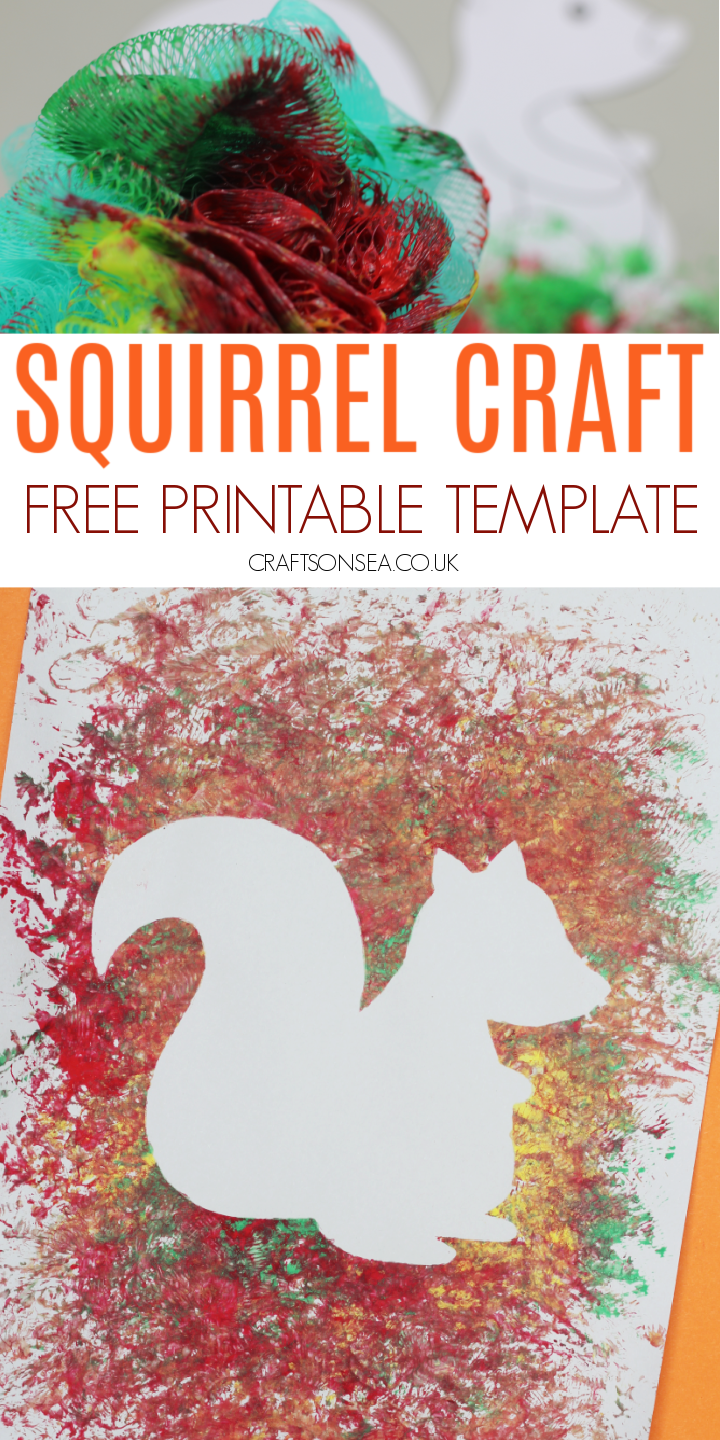 squirrel craft with a template for kids