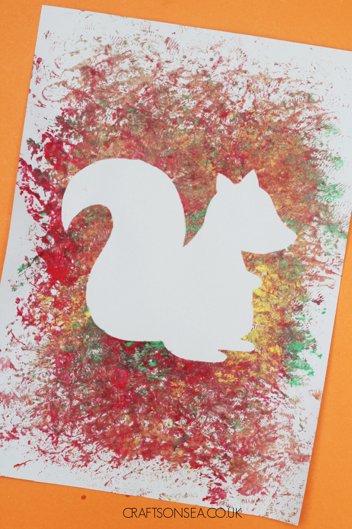 squirrel craft with a template