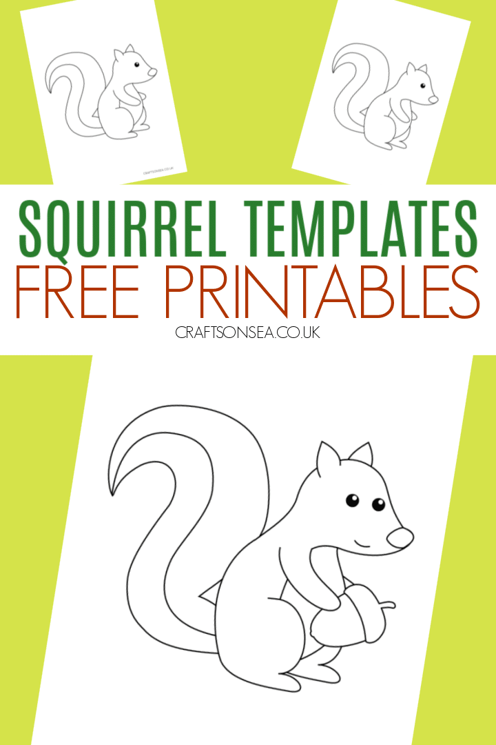 squirrel template printable PDF for kids
