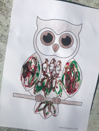 toilet roll owl craft
