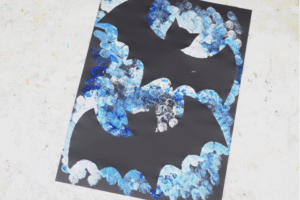 bat silhouette craft for kids
