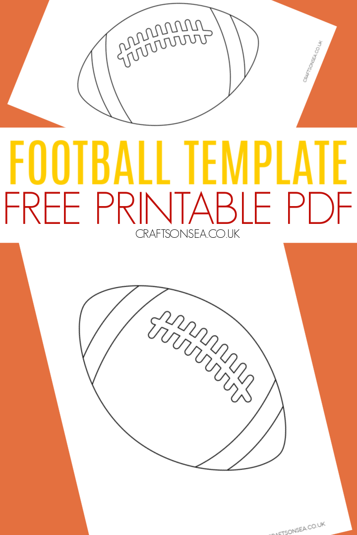 football template free printable kids