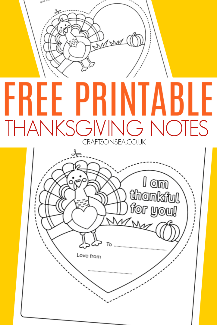 free printable thanksgiving notes for kids