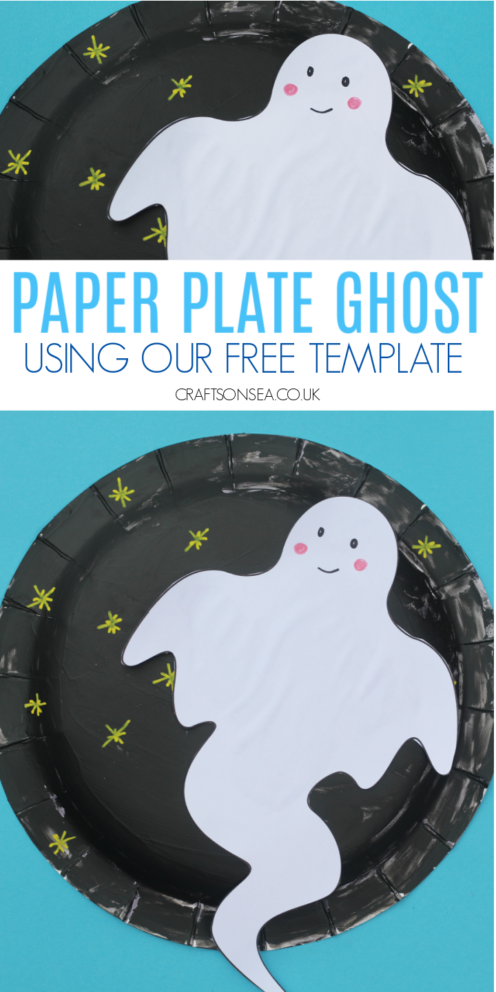 halloween paper plate crafts ghost