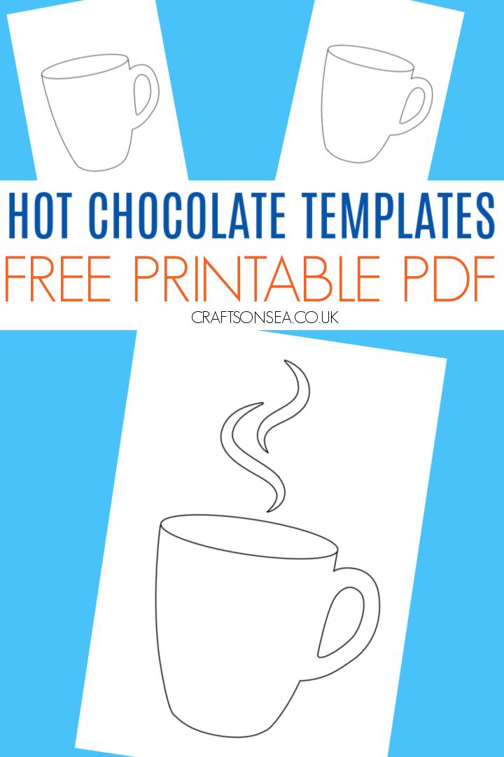 hot chocolate template printable PDF