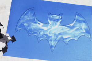 how to make a bat mosaic craft for kids