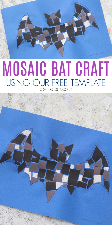 paper mosaic bat craft