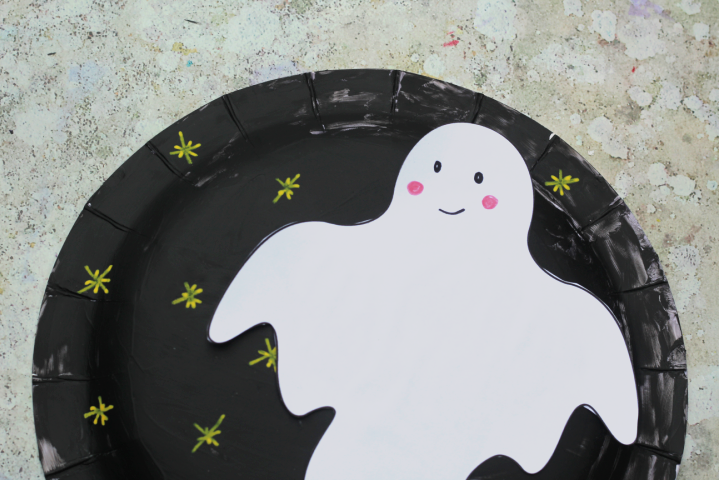 paper plate ghost template